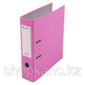 Папка-регистратор, А4, 80 мм, бумвинил/бумага, розовый.