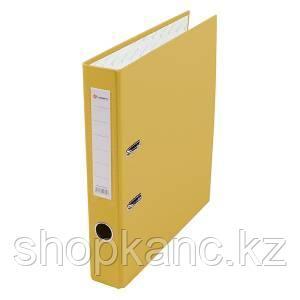 Папка-регистратор, А4, 50 мм, бумвинил/бумага, жёлтый.