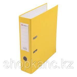 Папка-регистратор, А4, 80 мм, бумвинил/бумага, жёлтый.