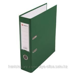Папка-регистратор, А4, 80 мм, бумвинил/бумага, зелёный.