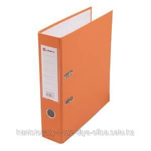 Папка-регистратор, А4, 80 мм, бумвинил/бумага, оранжевый.