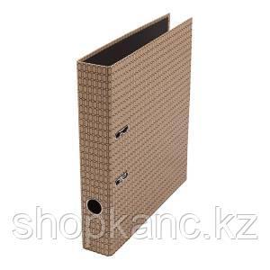 Папка-регистратор, А4, 50 мм, картон, чёрная кольчуга .