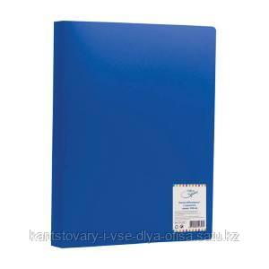 Папка с зажимом OfficeSpace, 15 мм, 500 мкм, синяя.