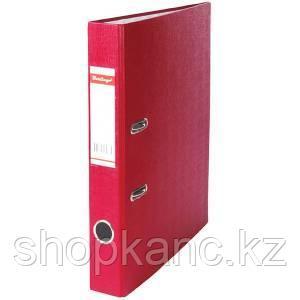 Папка-регистратор, А4, 50 мм, бумвинил/бумага, бордовый.