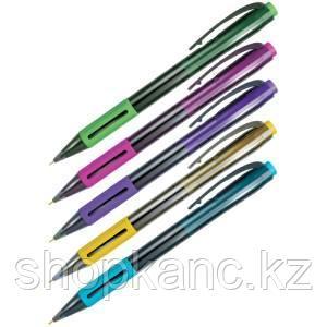 """Ручка шариковая авт. Berlingo """"SI-400 Color"""" синяя, 0,7мм, грип, корпус ассорти"""