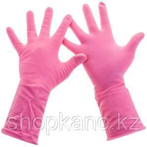 """Перчатки резиновые Paclan """"Practi.Comfort"""", р.S, розовые."""