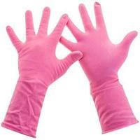 """Перчатки резиновые Paclan """"Practi.Comfort"""", р.М, розовые."""