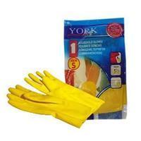 Перчатки хозяйственные S, цвет: желтый.