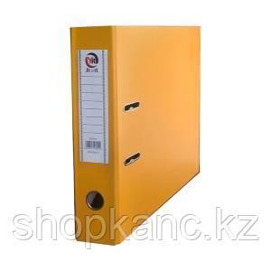 Папка-регистратор, А4, 75 мм, бумвинил/бумага, жёлтый.
