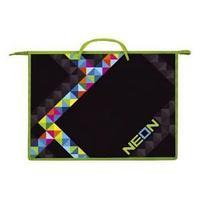 """Папка пластиковая для тетрадей """"Hatber"""", А3, 1 отделение, с ручками, на молнии, серия """"Neon"""""""