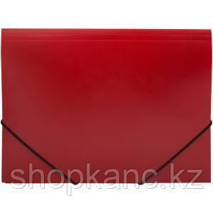 Папка на резинке, А4, 500 мкм, красный.