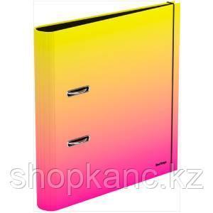 """Папка-регистратор Berlingo """"Radiance"""", 50мм, ламинированная, желтый/розовый градиент"""