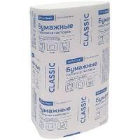 Полотенца бумажные лист. OfficeClean Professional(V-сл.), 1-слойн., 200л/пач., 23*20,5, белые