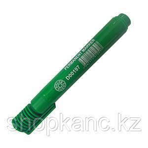 Маркер перманентный, цвет зеленый, 2-5 мм, пулевидный наконечник, пластиковый корпус.