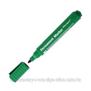 "Маркер перманентный ""8004 OfficeSpace"" зеленый, пулевидный, 2мм"