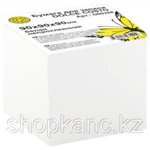 Бумага для записи DOLCE COSTO 90х90х90 мм, белая, белизна 92%, в термопленке, сменная