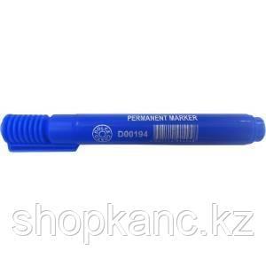 Маркер перманентный  синий, клиновидный наконечник