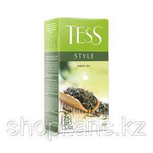 Чай Tess Style, зеленый, пакетированный, 25*1,8 г.