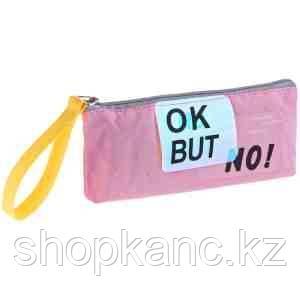 "Пенал мягкий 190*80*40 ArtSpace ""Ok but no"", розовый, х/б, ПВХ"