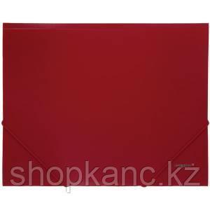 Папка A4 с резинкой непрозрачная красная 0.45 мм Proff. Standard
