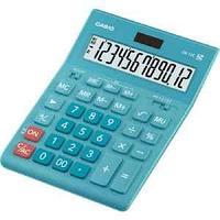 Калькулятор настольный, 12 разрядный CASIO GR-12C-LB-W-EP бирюза