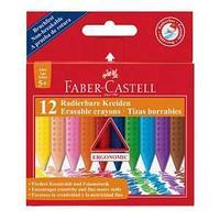 Мелки восковые GRIP, стирающиеся, 12 цветов, в картонной коробке.