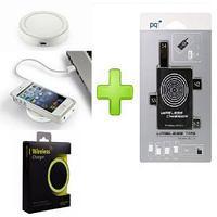 Зарядное устройство беспроводное, для Samsung Galaxy S3/S4, Note 2/3, PowerQi T-200+WIRELESS TAG бел