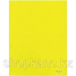 Папка-уголок A4 с 2-мя внутренними клапанами прозрачная желтая 0.30 мм.