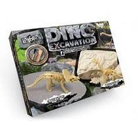 """Набор для проведения раскопок """"DINO EXCAVATION"""" скелет Трицератопса, скелет Брахиозавра"""