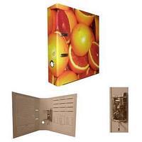 Папка-регистратор, А4, 80 мм, бумвинил/бумага, апельсин.