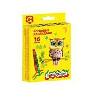 Восковые карандаши Каляка-Маляка 16 цветов круглые
