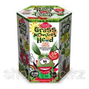 """Набор креативного творчества """"GRASS MONSTERS HEAD Волшебный боб зелёный горшочек"""""""