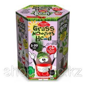 """Набор креативного творчества """"GRASS MONSTERS HEAD Волшебный боб красный горшочек"""""""