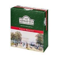 Чай Ahmad Tea, Английский завтрак, пакетики с ярлычками 100*2г*12.