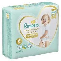 Подгузники Трусики Pampers Premium Care Pants 16 кг, размер 6, 31 шт.