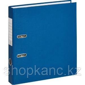 Папка-регистратор, А4, 75 мм, бумвинил/бумага, синий.