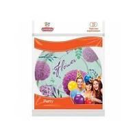 Тарелки бумажные с рис. D23см МИКС Цветы 10шт
