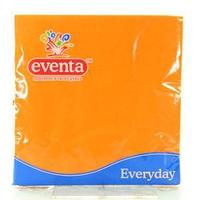 Салфетки бумаж.33*33 интенсив.оранжевые, 20 шт