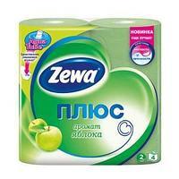 Туалетная бумага Zewa Плюс Яблоко  , 2-сл. 4 рул./упак.