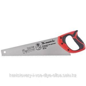 Ножовка по дереву, 400 мм, 7-8 TPI, зуб - 3D, каленый зуб, двухкомпонентная рукоятка