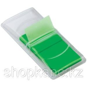 Клейкие листки-индексы пластиковые, цвет зеленый, 50 листов