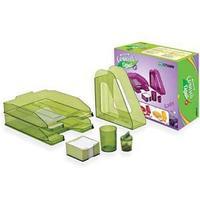 Настольный набор СОЧНЫЙ ОФИС №1, НН11, зеленый, (6 предметов)