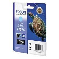 Картридж оригинальный Epson, T1575, светло-голубой.