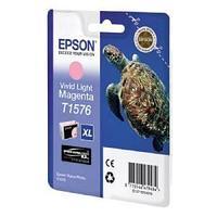 Картридж оригинальный Epson, T1576, светло-пурпурный.
