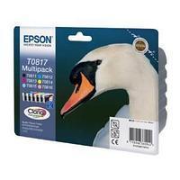 Набор оригинальных картриджей Epson, T0817, multipack.