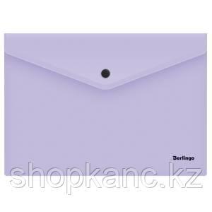 "Папка-конверт на кнопке Berlingo ""Instinct"", А4, 180мкм, лаванда"