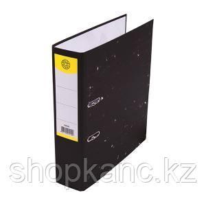 Папка-регистратор, А4, 75 мм, картон, чёрный мрамор.