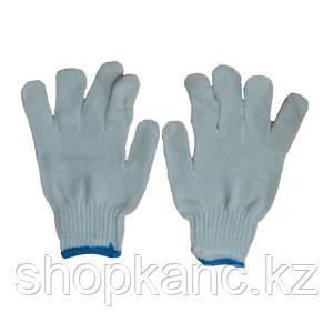 Перчатки без покрытия, белые.