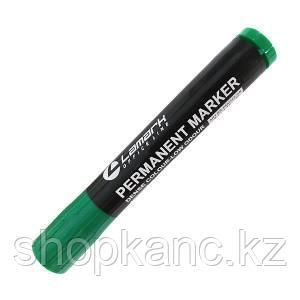 Маркер перманентный, зеленый, 3-5 мм, пулевидный, пластик.