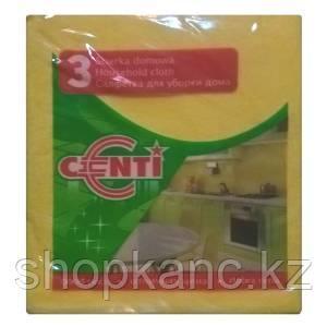 Салфетка из микрафибра CENTI, 35*38 см., 3 шт.
